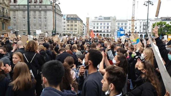 Demo von jungen Menschen
