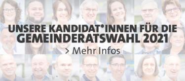 Bühne Kandidatinnen und Kandidaten für die Gemeinderatswahl 2021