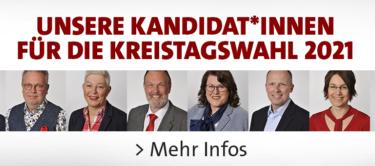Bühne Kandidatinnen und Kandidaten für die Kreistagswahl 2021